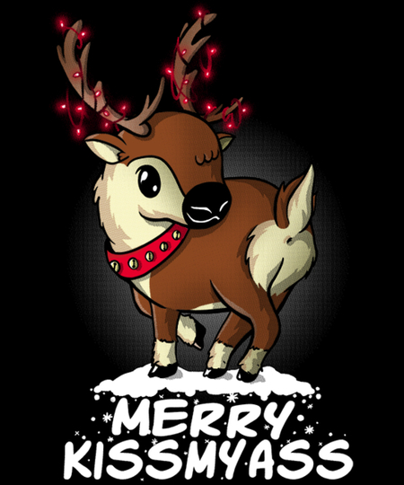 Qwertee: Merry Kissmyass
