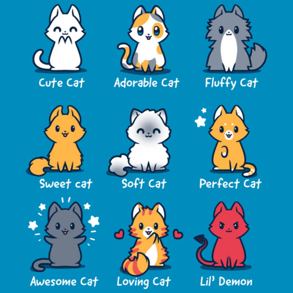 TeeTurtle: All The Cats