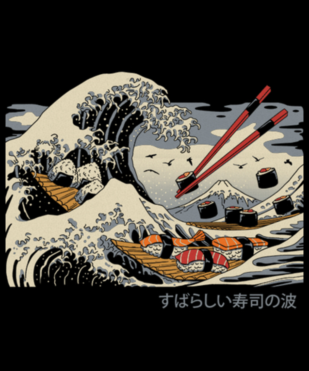 Qwertee: The Great Sushi Wave