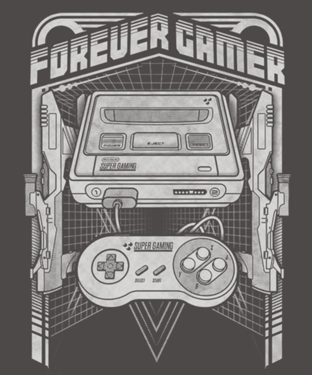 Qwertee: Forever Gamer 16-Bit