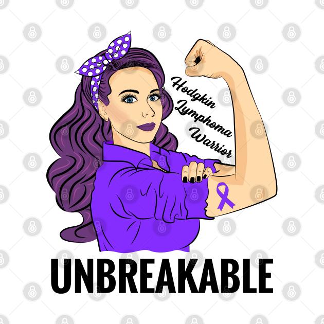 TeePublic: Hodgkins Lymphoma Cancer Awareness HL Warrior Unbreakable