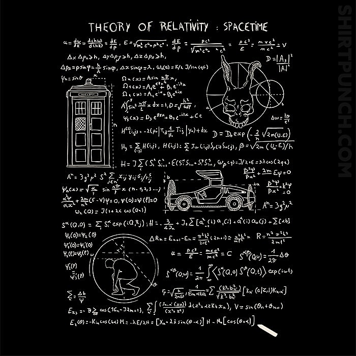 ShirtPunch: Theory Of Relativity : Spacetime