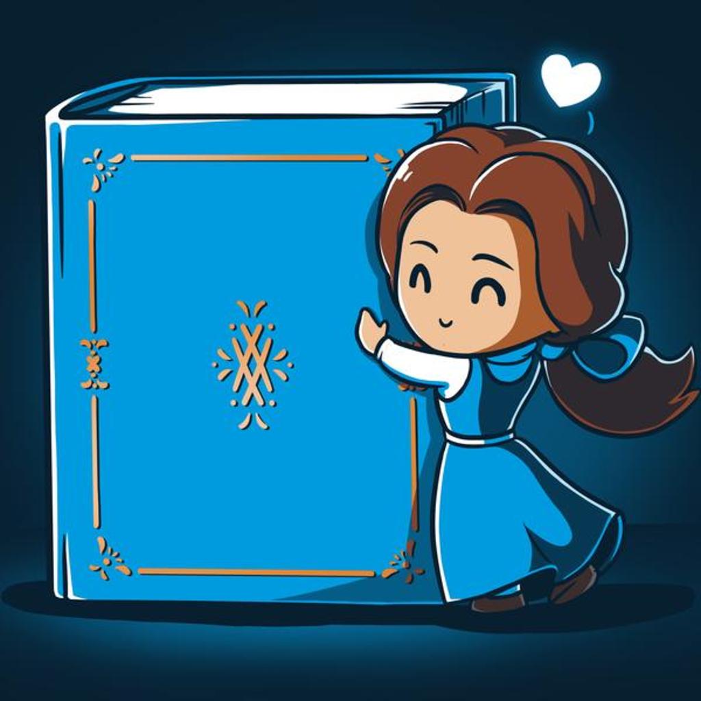 TeeTurtle: Belle Loves Reading