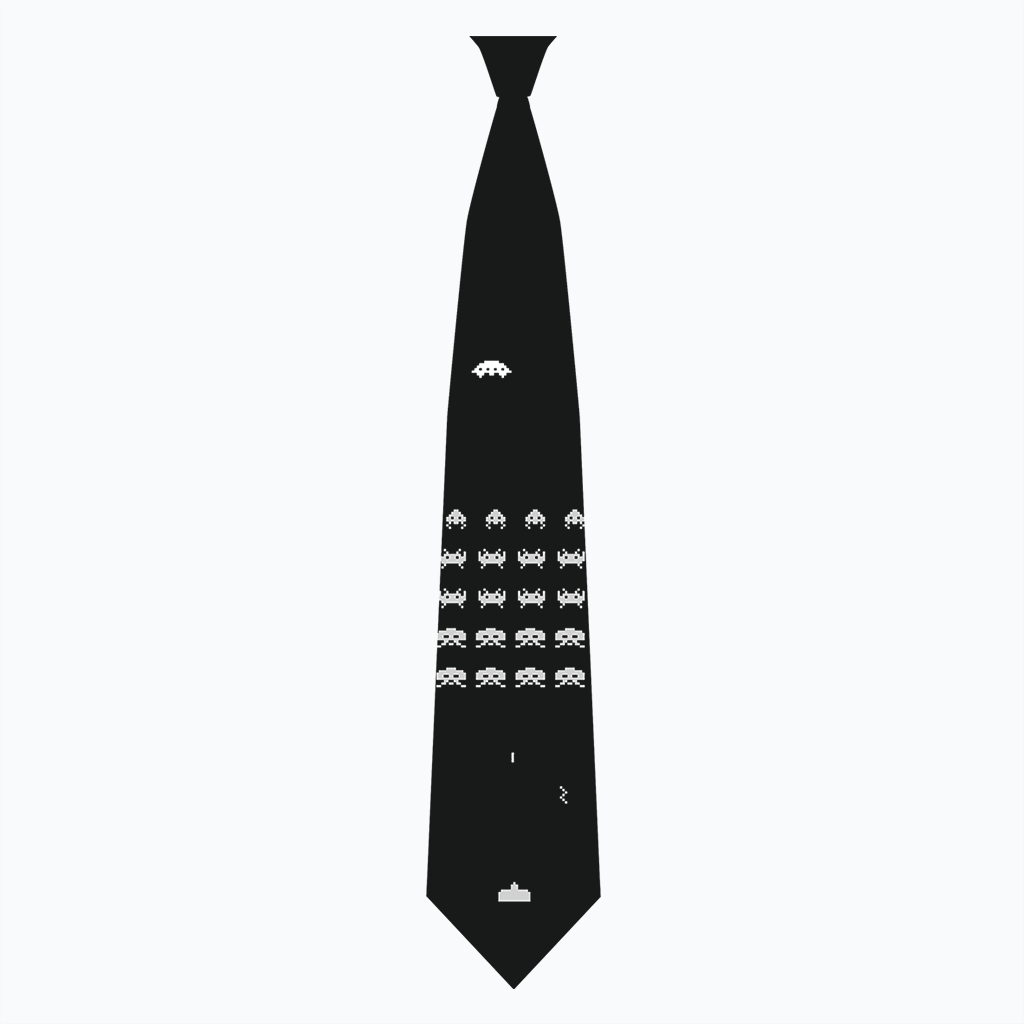 Pop-Up Tee: Weekend Deal - Space Invaders Tie Tee