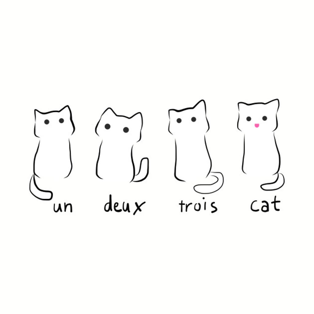 TeePublic: Un Deux Trois Cat