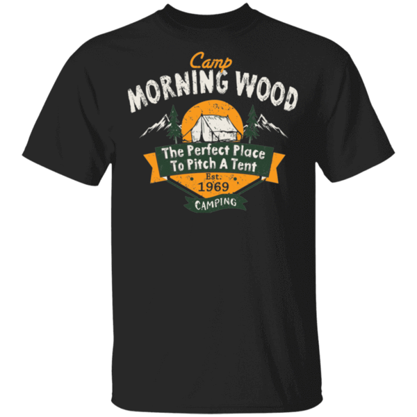 Pop-Up Tee: Camp Morning Wood Camping