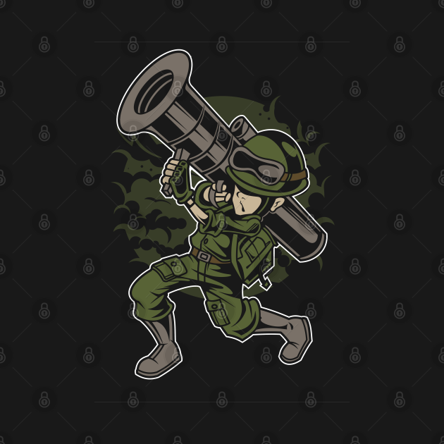 TeePublic: Soldier Series: Soldier with a Bazooka