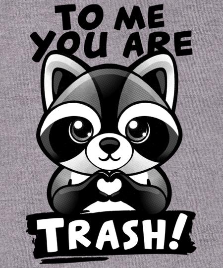 Qwertee: Raccoon trash lover
