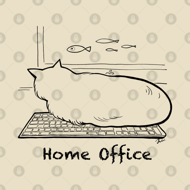 TeePublic: Home office with cat