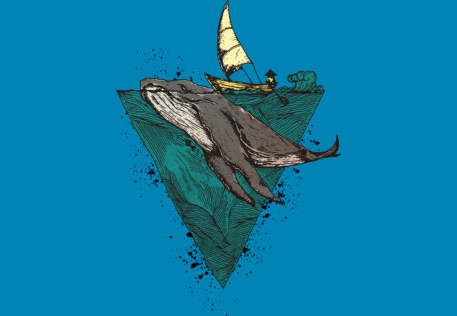 Design by Humans: Whale geometric