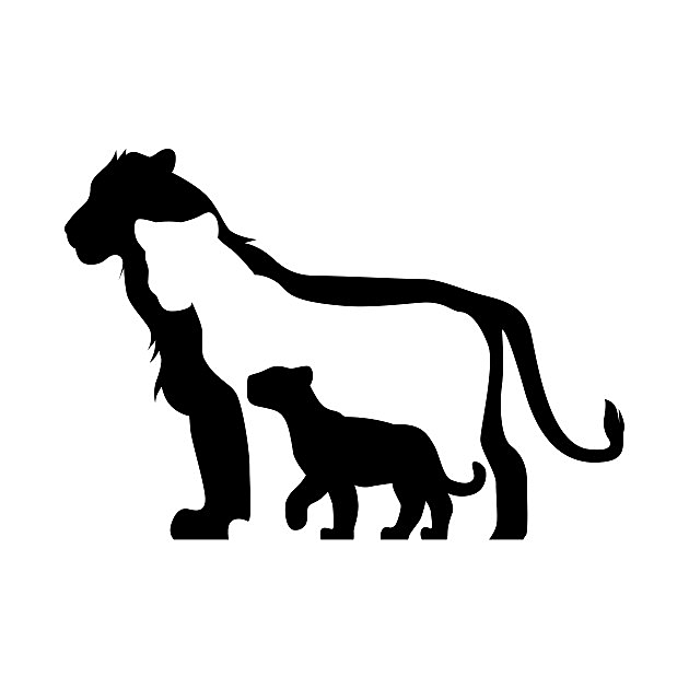 TeePublic: Black and White Lions