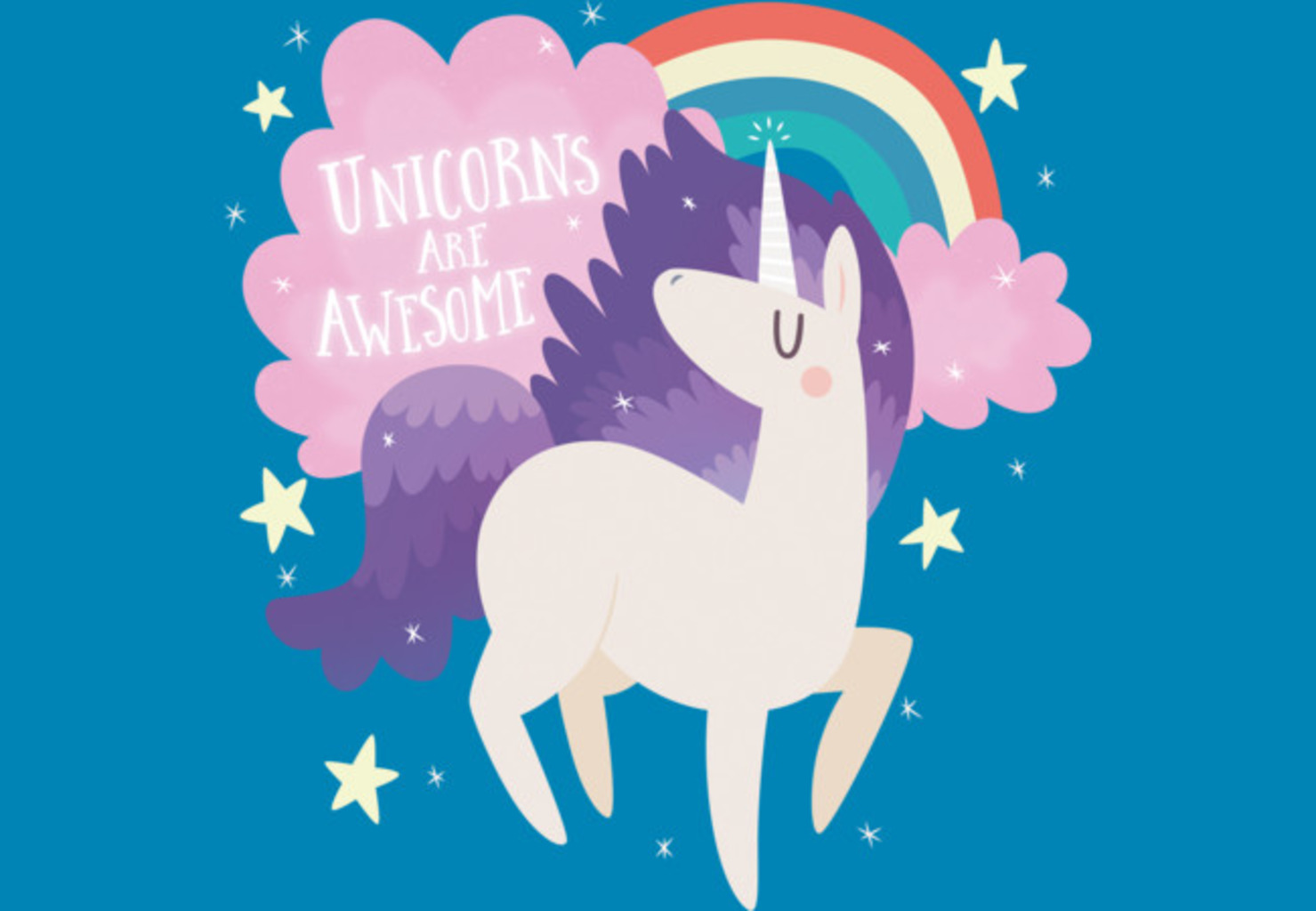 Design by Humans: UNICORNS ARE AWESOME