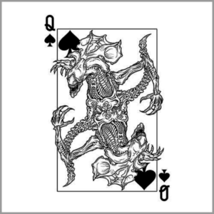 Five Finger Tees: Alien Queen Of Spades T-Shirt