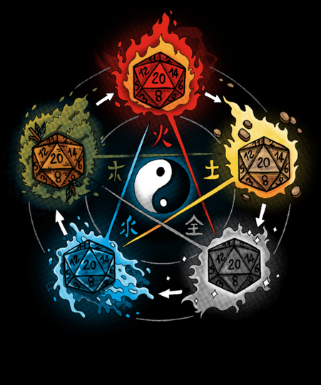 Qwertee: Dice Elements