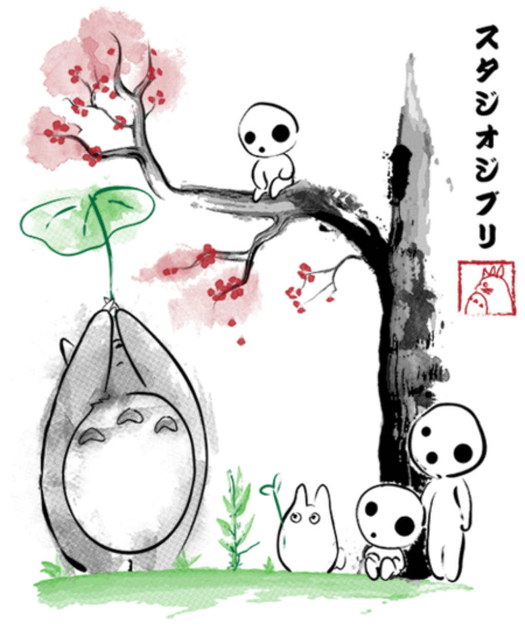 Qwertee: Growing Trees Sumi-e