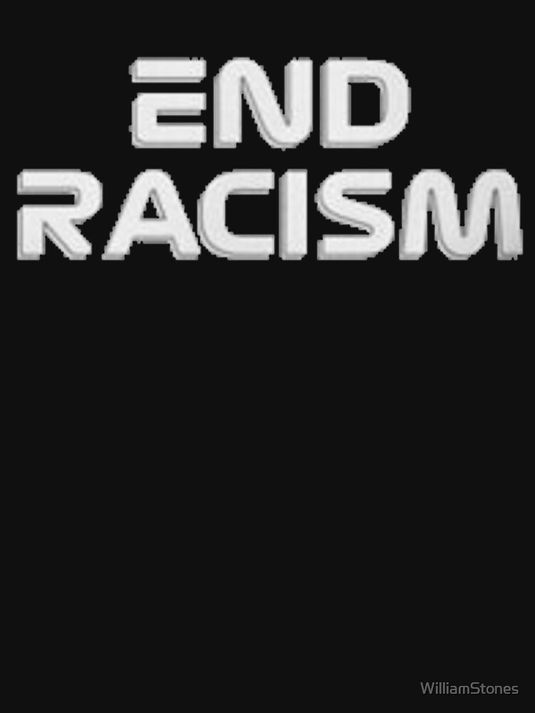 RedBubble: End Racism F1 Design
