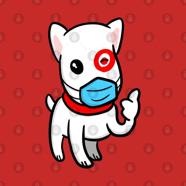 TeePublic: Essential Employee Dog Wearing Mask