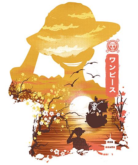 Qwertee: Ukiyo e Pirate