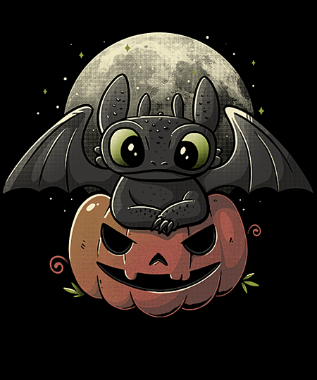 Qwertee: Spooky Dragon