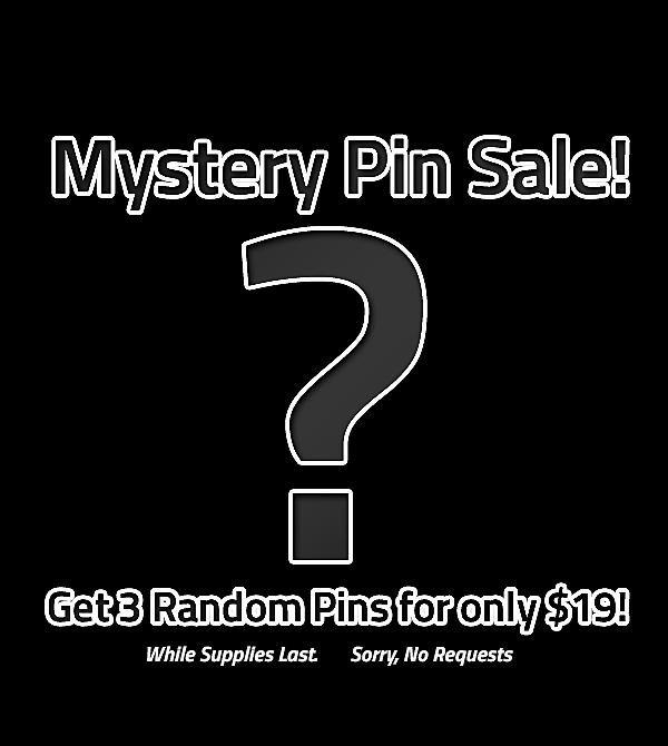 teeVillain: Mystery Pin Sale