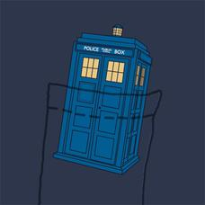 Textual Tees: Tardis Pocket Tee