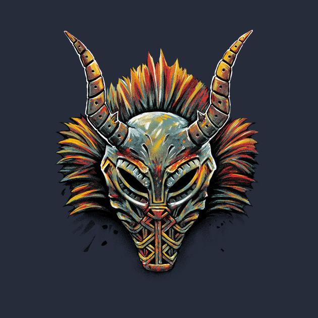 TeePublic: Killmonger Tribal Mask