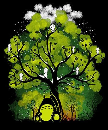 Qwertee: My Neighbors Forest