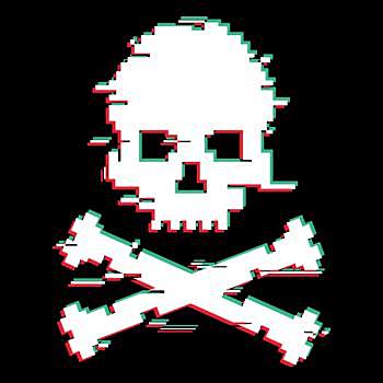 BustedTees: 8bit skull