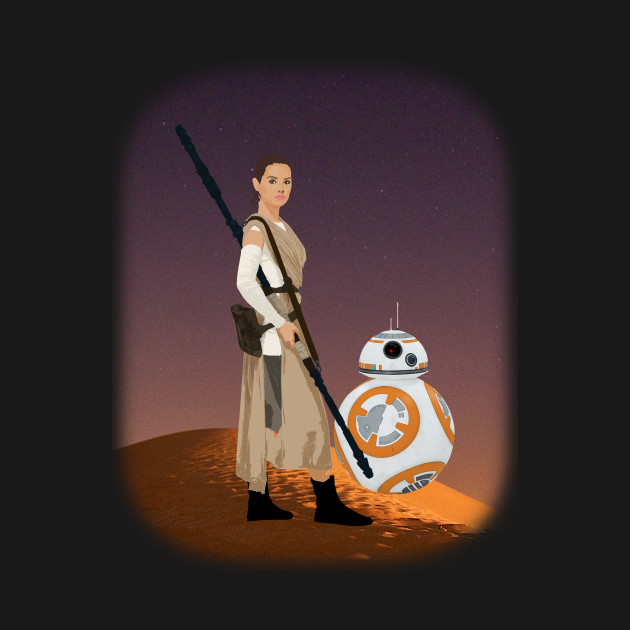 TeePublic: Rey and BB-8