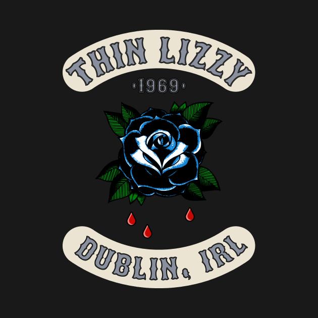 TeePublic: Thin Lizzy - Black Rose of the Emerald Isle