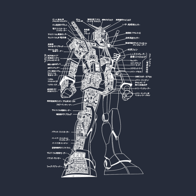 TeePublic: Gundam Schematic