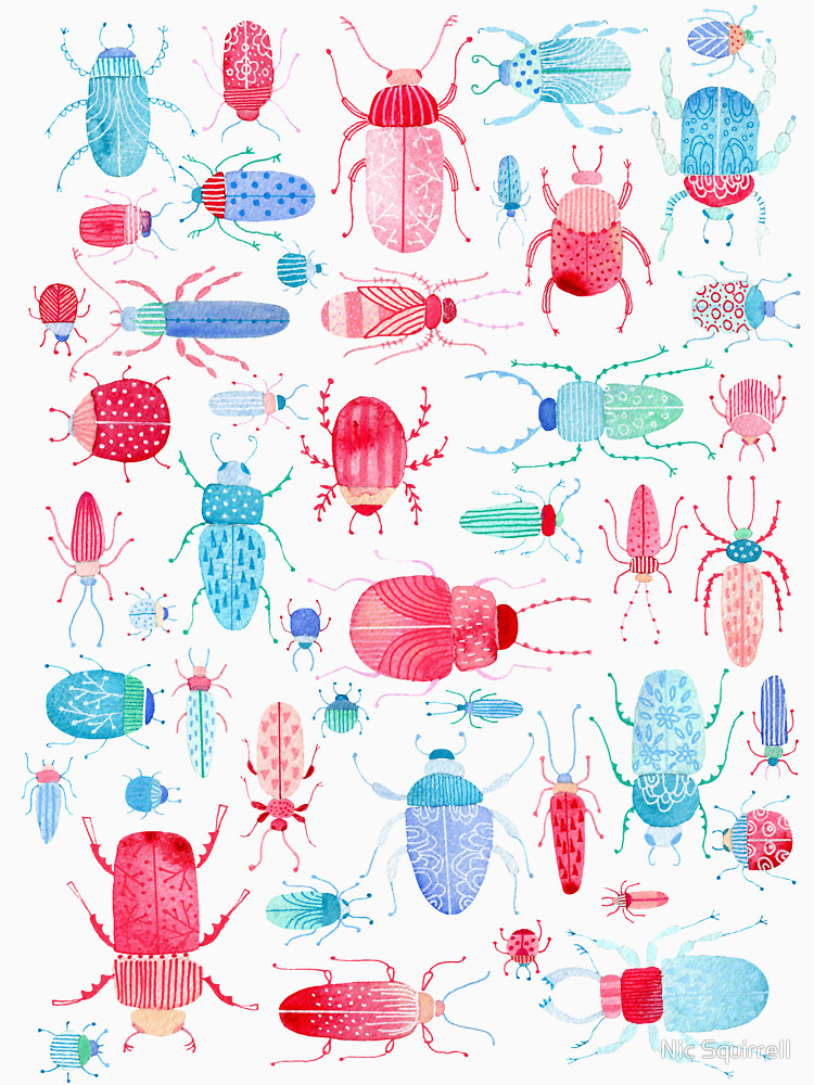 RedBubble: Watercolor Beetles