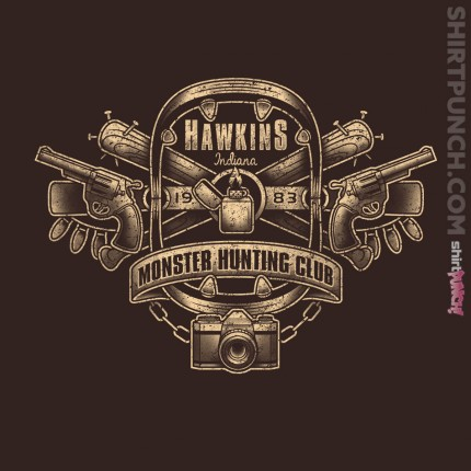 ShirtPunch: Hawkins Monster Hunting Club