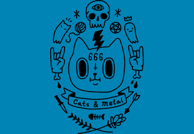 Design by Humans: Cats And Metal