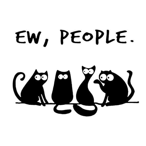 BustedTees: Funny Cat Ew, People Mug