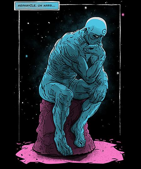 Qwertee: Blue Thinker