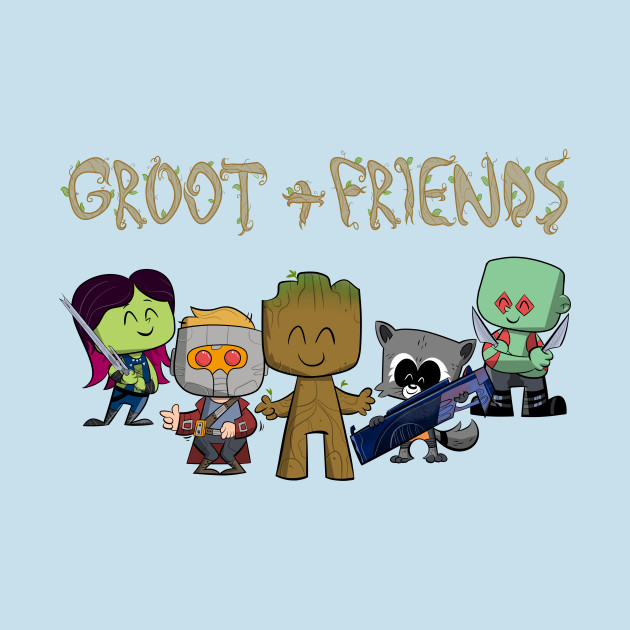 TeePublic: Groot + Friends
