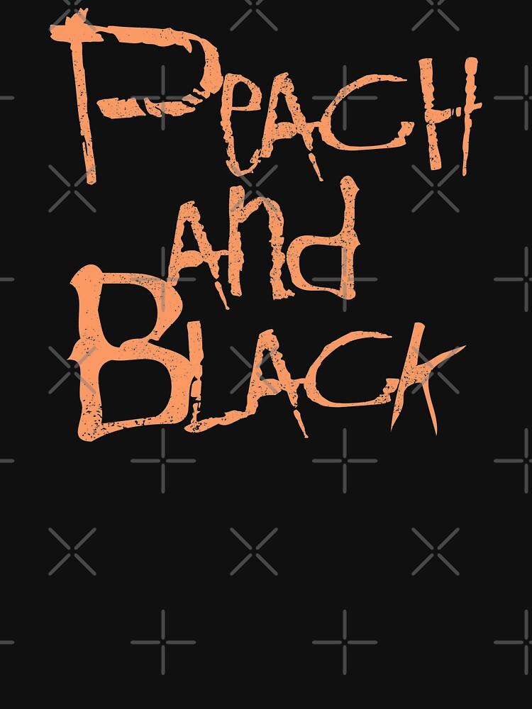 RedBubble: Peach and Black (distressed design)