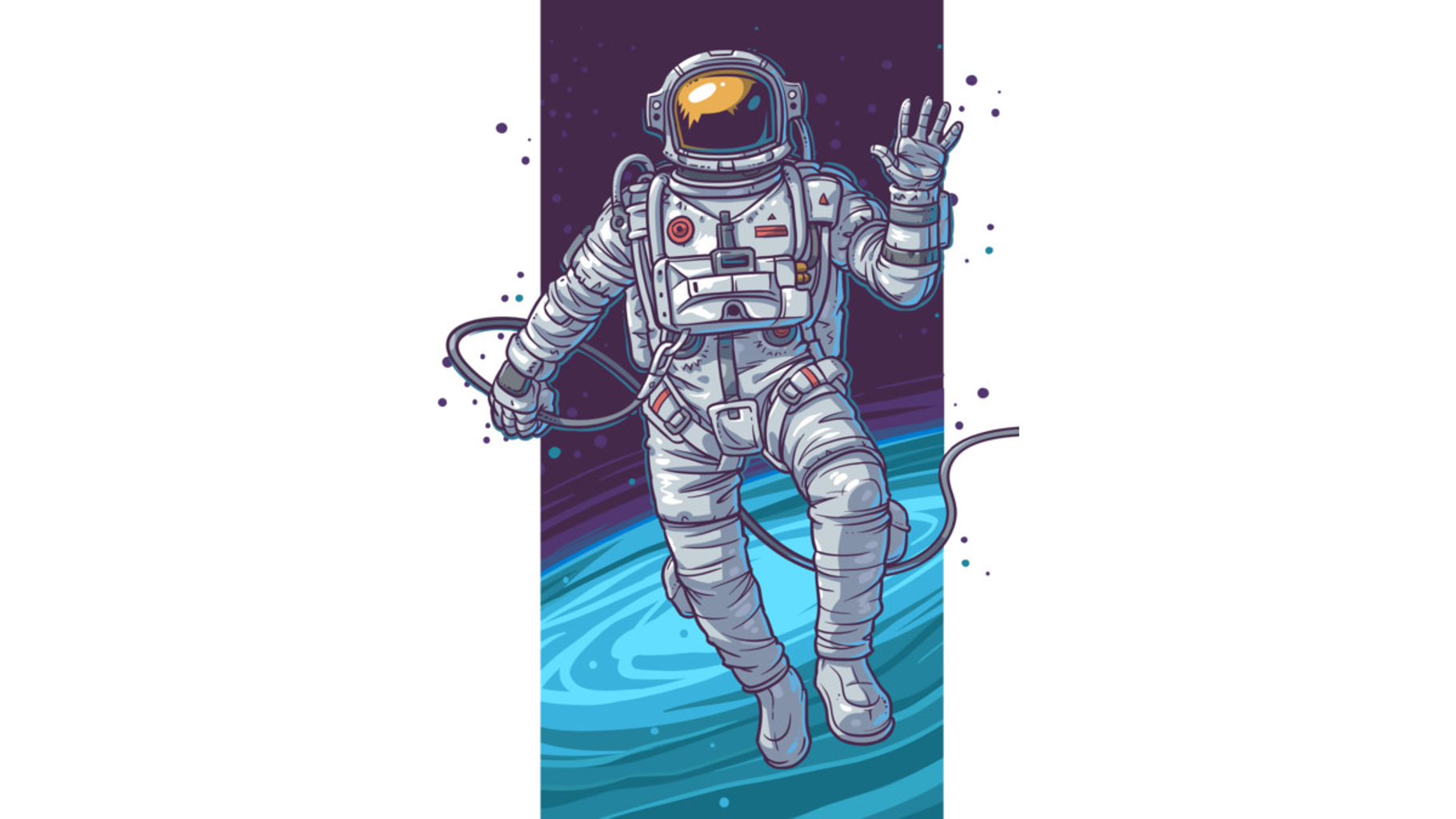 Design by Humans: Astronaut - Space walking man