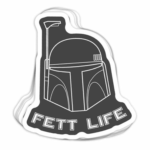 BustedTees: Fett Life Vinyl Sticker
