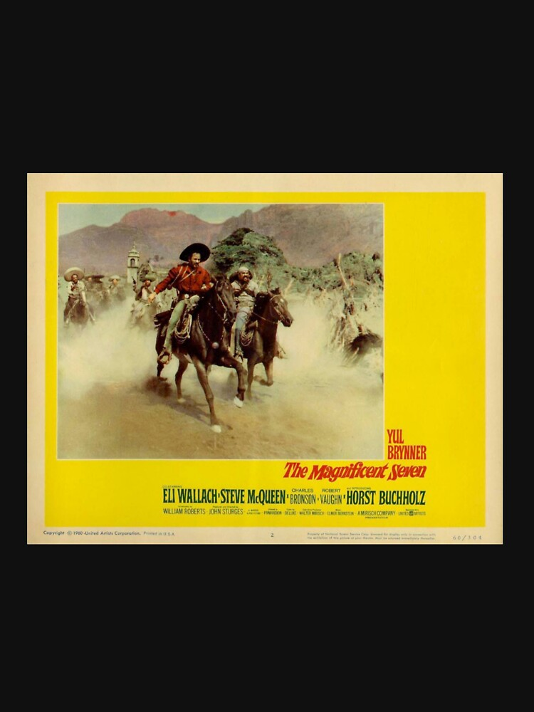 RedBubble: The Magnificent Seven feat. Yul Brynner (Lobby Card)