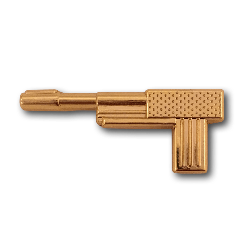 Pop Vulture: Golden Gun Pin