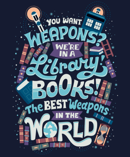 Qwertee: Books are the best weapons