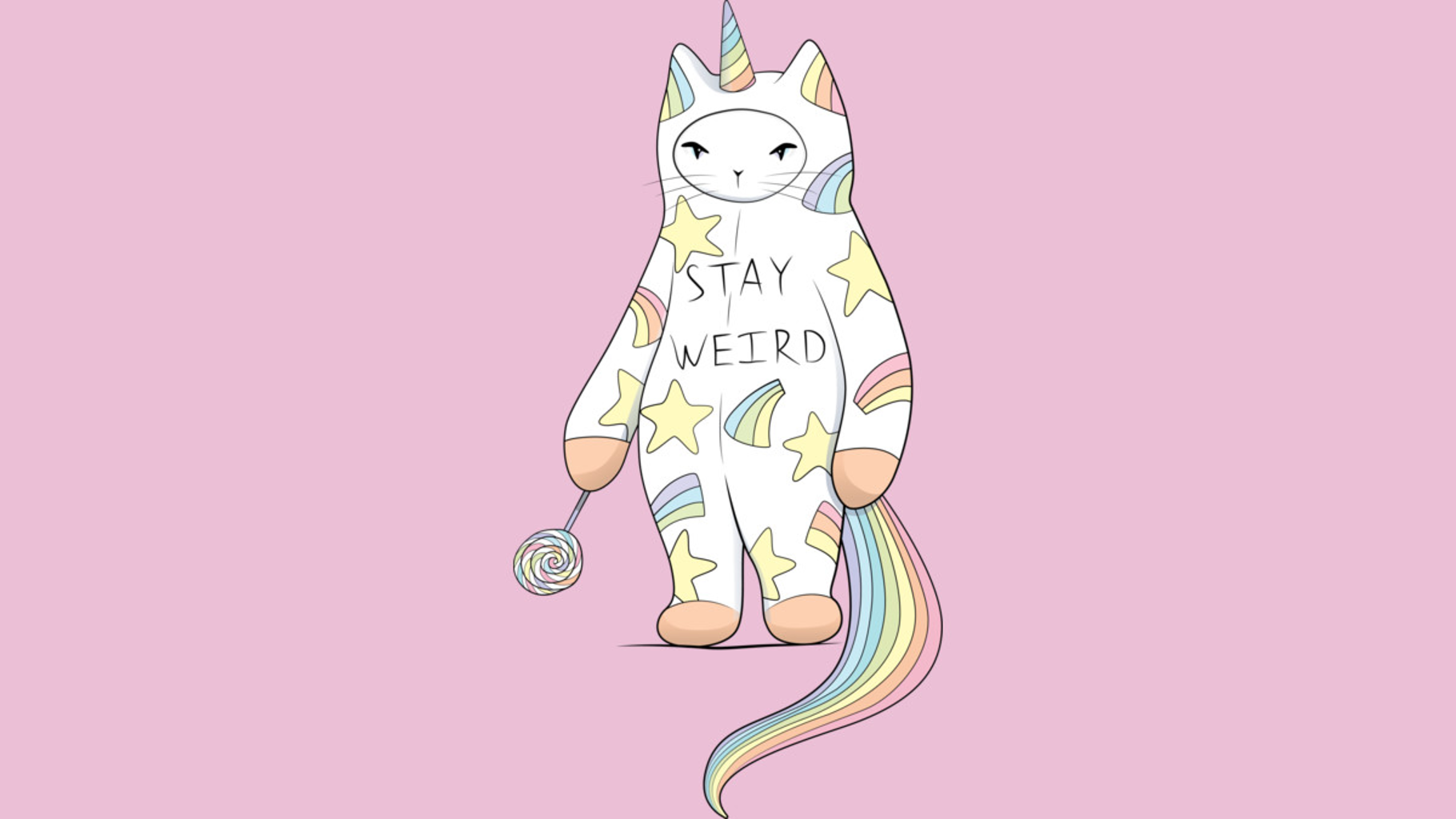 Design by Humans: Stay Weird! With Love From Unicorn Cat