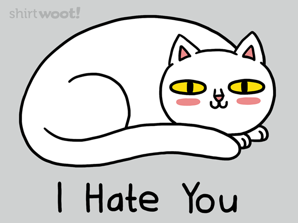 Woot!: I Hate You - $8.00 + $5 standard shipping