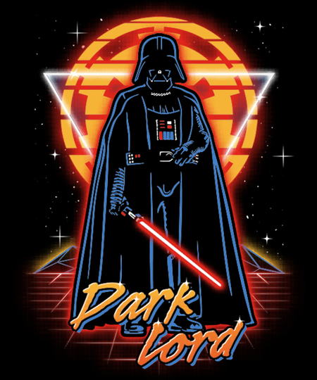 Qwertee: Retro Dark Lord