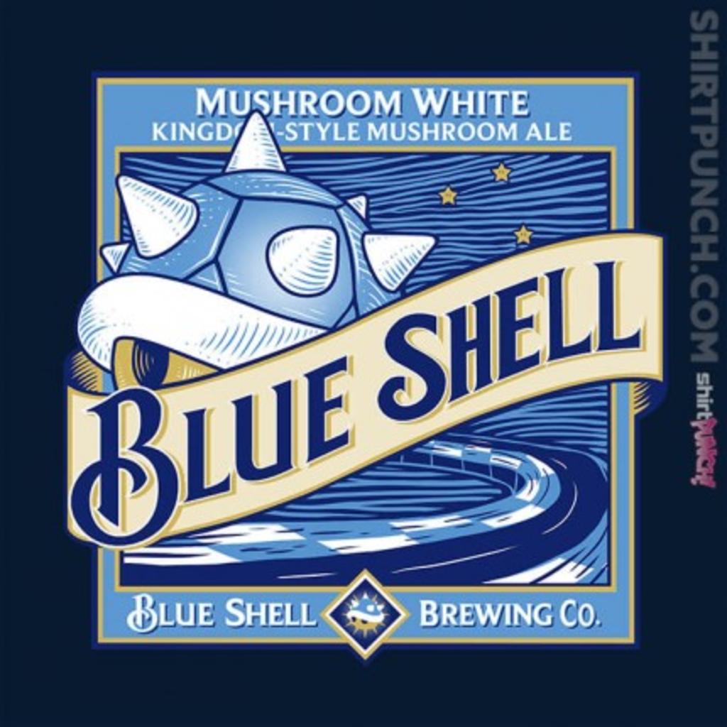 ShirtPunch: Blue Shell Beer