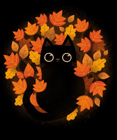 Qwertee: Autumn Cat