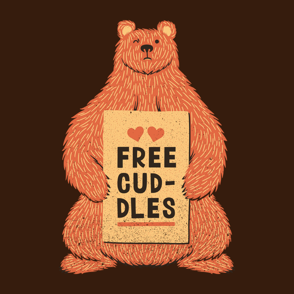 NeatoShop: Cute Bear Free Cuddles Orange