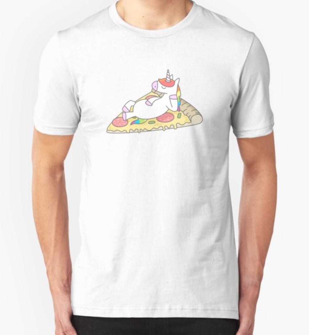 RedBubble: Unicorn Pizza